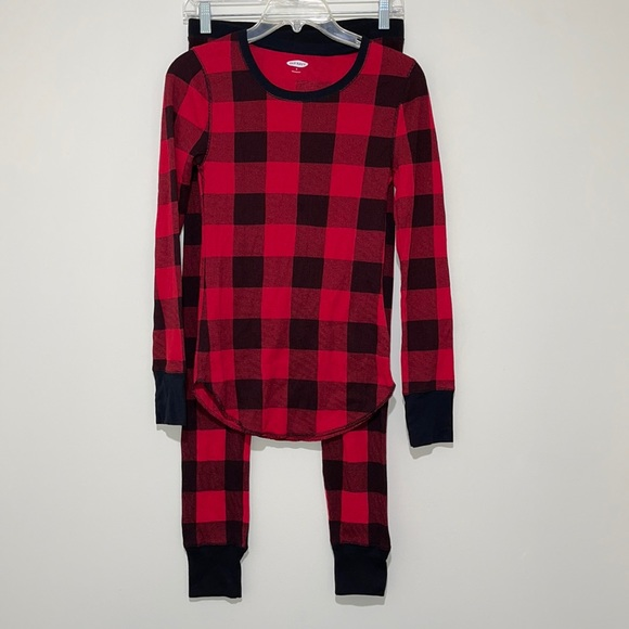 NWOT Old Navy Red Buffalo Plaid Thermal Set Small